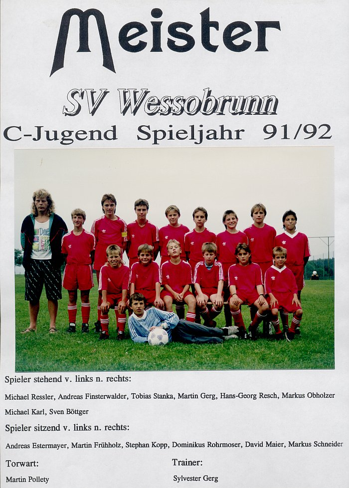 C-Jugend 1992 Meister